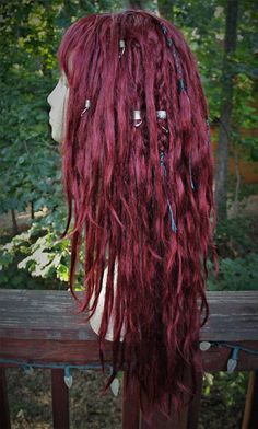 READY TO SHIP Burgundy Synthetic Dreadlock Wig  Synthetic