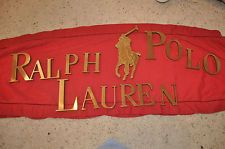 Brass Polo Ralph Lauren Display letters and polo pony for a retail store - unused.  Oh the things I could do with these!