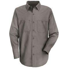 bcfc9078383 Men s Long Sleeve Wrinkle-Resistant Cotton Work Shirt