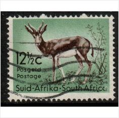South Africa Scott 250 - 1961 Springbok used stamps sur le France de eBid Union Of South Africa, Envelope Art, Hindu Art, Native Indian, Rare Coins, African Safari, Fauna, Stamp Collecting, Postage Stamps
