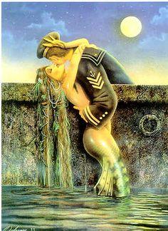 Mermaid and a Sailor - David Delamare