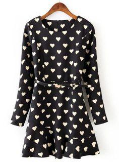 pretty hearts ruffle #dress