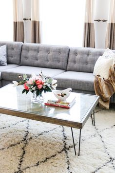 Upgrade your couch with tufting. | 19 Cheap Ways To Upgrade The Things You Already Own