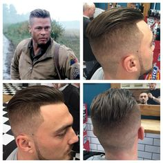 Strange Brad Pitt Hair Tutorial From Fury Dre Drexler Youtube Mens Hairstyle Inspiration Daily Dogsangcom