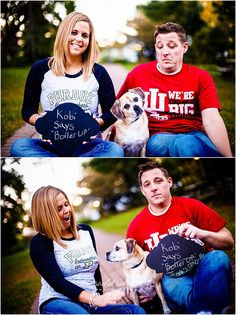 Zionsville Engagement Photography | Jenna + Matt, dog, indiana university, iu, purdue, pu, house divided, www.rachelrichard.com