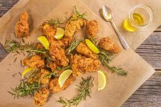 Fennel and Rosemary Fried Chicken or Chicken Wings.