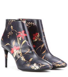 BALENCIAGA Printed Leather Ankle Boots. #balenciaga #shoes #boots