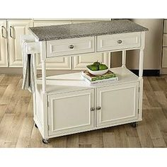 Sandra by Sandra Lee Kitchen Cart - Granite Top $169