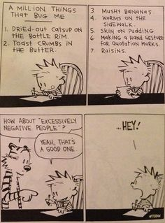 One of my favorite Calvin & Hobbes, I've had it on my fridge probably since it was in the newspaper.  ~ A million things that bug me…