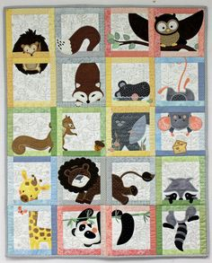 Animal Adventure Machine Embroidery Block of the Month