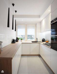 Kitchen Room Design, Modern Kitchen Design, Home Decor Kitchen, New Kitchen, Small White Kitchens, Small Kitchen Layouts, Luxury Kitchens, Home Kitchens, Kitchen Soffit