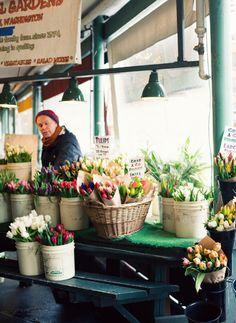 Labels in flower market
