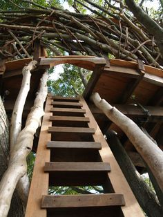 Lake Nest Treehouse  by Roderick Romero Treehouses, via Flickr