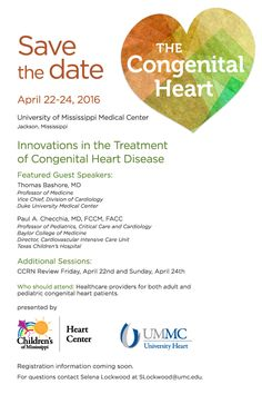 University of Mississippi Medical Center and Children's of Mississippi - Congenital Heart Conference - Evite (April 2016)