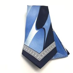 Mens Karl Knox Shiny Aqua Teal Turquoise Satin Formal Dress Shirt Tie /& Hanky