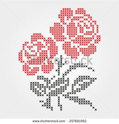 Towel embroidered cross - Buy this stock vector and explore similar vectors at Adobe Stock Simple Cross Stitch, Cross Stitch Rose, Cross Stitch Borders, Cross Stitch Flowers, Cross Stitch Designs, Cross Stitching, Cross Stitch Embroidery, Hand Embroidery, Cross Stitch Patterns