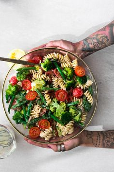 A delicious Vegan Lemon Tahini Pasta Salad loaded with Fresh Veggies and dressed with a delicious Tahini Lemon Dressing. Ready In Under 20 Minutes.