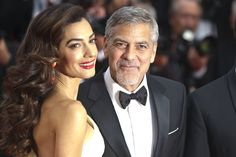 CANNES, FRANCE - 2016/05/12: Amal Clooney and George Clooney attend the screening of 'Money Monster' at the annual 69th Cannes Film Festival at Palais des Festivals in Cannes, France. (Photo by Elyxandro Cegarra/Pacific Press/LightRocket via Getty Images) via @AOL_Lifestyle Read more: http://www.aol.com/article/2016/07/14/amal-clooney-stuns-in-nightgown-inspired-dress-on-night-out-with/21432263/?a_dgi=aolshare_pinterest#fullscreen