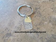 Handstamped Personalized Keeper Of my Heart keychain/boyfriend keychain/gifrlfriend keychain/wife husband keychain/couples keychain - pinned by pin4etsy.com