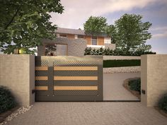 Gate in Aluminum and teck. www.alugroove.it