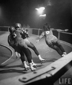 * Women's Roller Derby, 1948