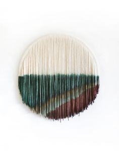 Lauren Williams Art + Home - Modern Bohemian Fiber Art Bohemian Interior, Modern Bohemian, Small Tapestry, Geometric Quilt, Circle Shape, Gold Paint, Vintage Roses, Les Oeuvres, Fiber Art