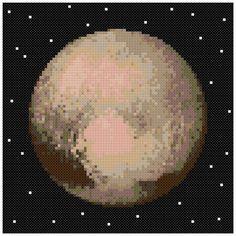 PDF Cross Stitch pattern : 0057.Pluto planet by PIXcross