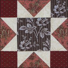 Week 37: .Chocolate & Blue plus Lace Prints. Stars in a Time Warp 2015 quilt along with Barbara Brackman