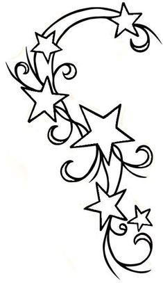 Star Tattoos Tattoo Designs Moon And Stars Tattoo Stencil Cute Star Coloring Pages, Adult Coloring Pages, Coloring Books, Bild Tattoos, Cute Tattoos, Tattoo Muster, Initial Tattoo, Star Tattoo Designs, Tattoo Outline