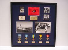Korean War Memorabilia in a custom shadowbox display #display #frame
