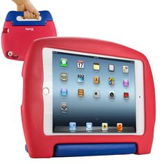 iPad Mini 4 Case for Kids, SAFEKIDS Series Children Proof Durable Shockproof Kids Friendly Case, Red & Blue