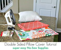 super easy No Sew Pillow cover tutorial Supplies Needed   Fresh Idea Studio ~ Your place for DIY
