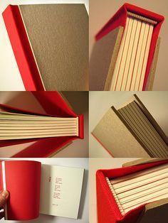 BOOK BINDING ---> Handmade book by Rosa Guimarães of Zoopress studio