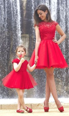 Lace Homecoming Dress A-line Scoop Tulle Red Short Prom Dress Party Dress JK466