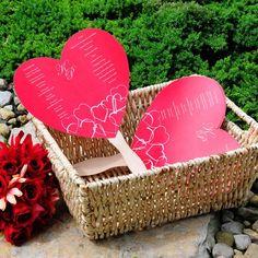 DIY Heart Shaped Wedding Program Fan Kit by Beau-coup...Thanks Lindsay Tratz :)