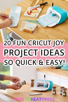 20 Fun Cricut Joy Projects – So Quick & Easy! - - Check out these ideas for Cricut Joy Projects. These are the types of things you can make with the NEW Cricut Joy cutting machine. Cricut Ideas, Cricut Tutorials, Ideas For Cricut Projects, Cricut Vinyl Projects, Cricut Heat Transfer Vinyl, Cricut Iron On Vinyl, How To Use Cricut, Cricut Craft Room, Easy