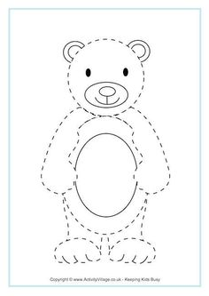 This is one very versatile teddy bear template! Print in various sizes to draw around and make your own pictures, cards, or decorations. Bears Preschool, Preschool Themes, Preschool Worksheets, Preschool Activities, Teddy Bear Crafts, Teddy Bear Day, Teddy Bear Template, Easy Animal Drawings, Goldilocks And The Three Bears