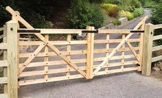 driveway gate plans | Barred gates » High heel softwood Cedar high heel Cedar high stile 6 ...