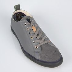 Paul Smith Men's Shoes | Grey Leather Lokai Trainers