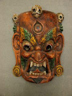 Old Tibetan Cham Dance Mask