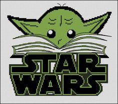 BOGO FREE! Yoda, Star Wars Cross Stitch Pattern StarWars Needlecraft Embroidery Star Wars Yoda Book Needlework PDF Instant Download #002-11 by StitchLine on Etsy