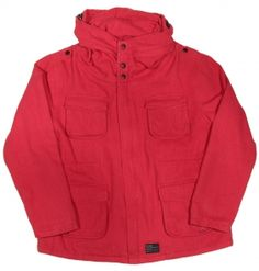 B-side CANVAS PARKA RED £190.00