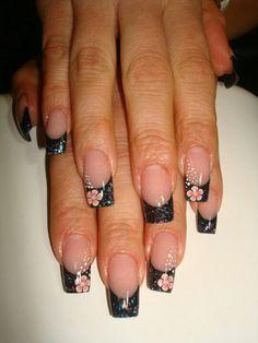 Fimo & black glitter