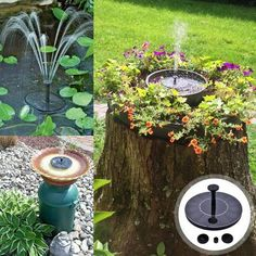 Solar-Powered Easy Bird Fountain Kit Having a dull and boring garden? Bring it back to its life by having a garden makeover and including this Solar-Powered Easy Bird Fountain Kit that would surely be. Bird Bath Fountain, Fountain House, Fountain Lights, Fountain Garden, Fountain Ideas, Water Patterns, Garden Makeover, Backyard Makeover, Best Solar Panels