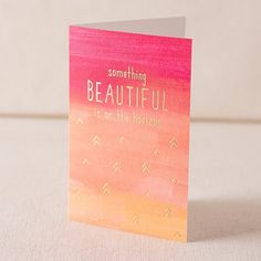 Beautiful Horizon digital and foil card - Smock. Foil Card, Day Planners, Foil Stamping, Something Beautiful, Smocking, Encouragement, Stationery, Greeting Cards, Gift Wrapping