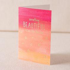 Beautiful Horizon digital watercolor + gold foil card » Smock.