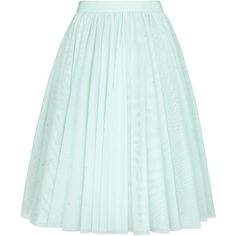 Ted Baker Odella Netted Tutu Skirt , Pale Green featuring polyvore women's fashion clothing skirts bottoms ted baker faldas pale green knee length tutu knee length flared skirts flared skirts flare skirt