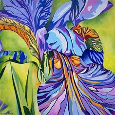 Celeste Kenney's absolutely FAVORITE flower: a blue iris! Big Flowers, Purple Flowers, Iris Art, Iris Painting, Art Aquarelle, Watercolor Flowers, Watercolour, Floral Illustrations, Art Floral