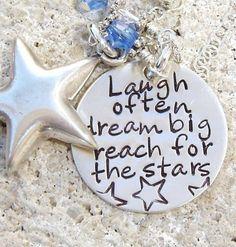 Laugh Often...Dream Big...Reach For The Stars  by ArtOfSilver, $34.00