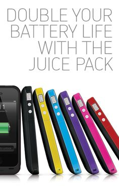 The juice pack plus is more than an everyday cell phone case: It's a battery, too! This is the latest must-have for owners of the iPhone 4 and 4S. I wonder if this is the answer??????